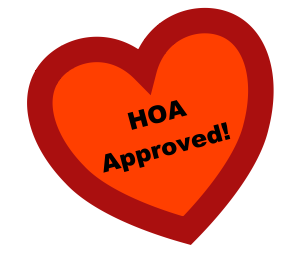 HOA APPROVED ARTIFICIAL GRASS