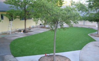 ARTIFICIAL GRASS AT A DAYCARE CENTER