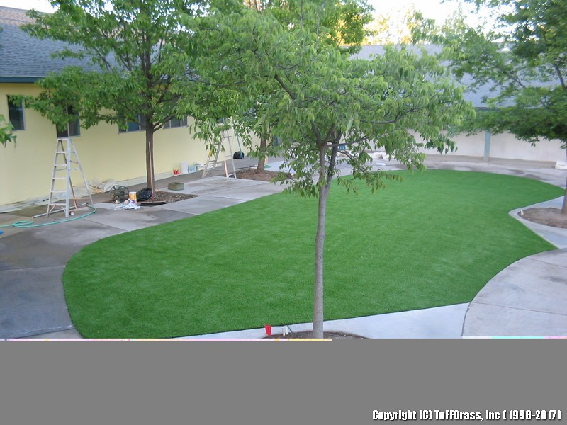 AFTER ARTIFICIAL GRASS AT A DAYCARE CENTER