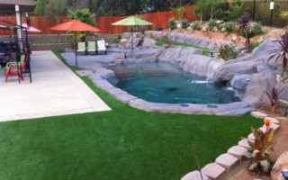 POOLSIDE synthetic faux lawn