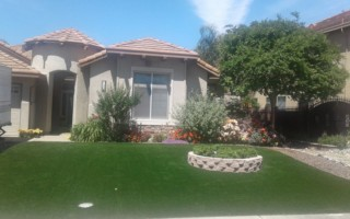 artificial grass lawn - front yard HOA community02