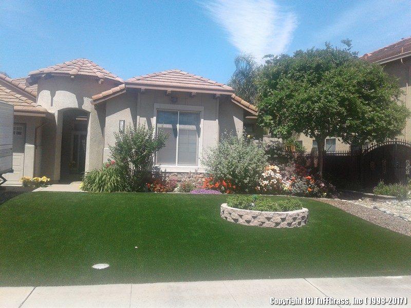 artificial grass lawn - front yard HOA community02