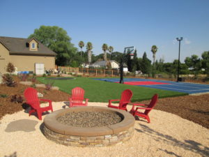 artificial grass for play yard, trampoline, yard games