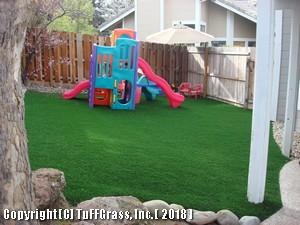 ARTIFICIAL -GRASS KIDS PLAY YARD after